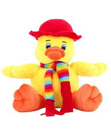 DealBindaas Sweet Duck Animal Soft Toy Yellow - 20 cm