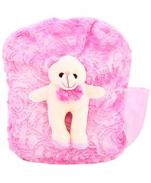 DealBindaas Plush Teddy Bag Pink (Colour may Vary)