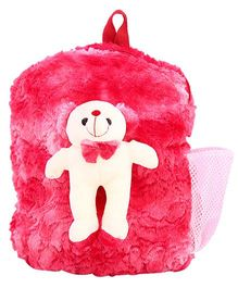 DealBindaas Plush Teddy Bag Red