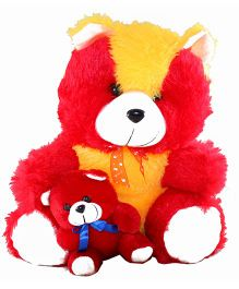 O Teddy Soft Toy Teddy Bear Red And Yellow - 13.7 Inches