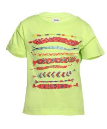 Tales & Stories Half sleeves T-Shirt Graphic Print - Light Green