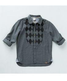 MilkTeeth Stylish Harlequin Shirt - Grey