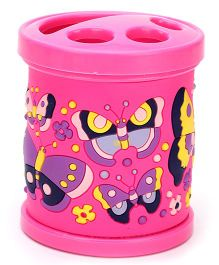 Gifts World Embossed Butterfly Pen Holder - Pink