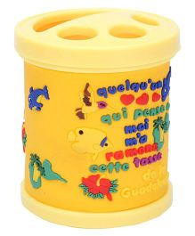 Gifts World Embossed Fish Pen Holder - Yellow