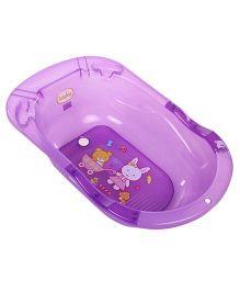 Babyhug Bath Tub Bunny Bear Print - Purple