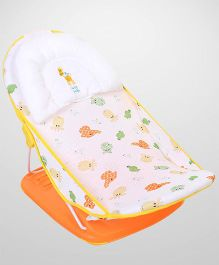 Mastela Deluxe Baby Bather Animals Print - White and Orange