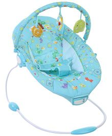 Mastela Music and Soothe Bouncer Animals Print - Blue