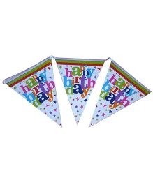 ShopAParty Happy Birthday Print Banner - Multicolour