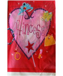 ShopAParty Princess Heart Print Table Cover - Pink
