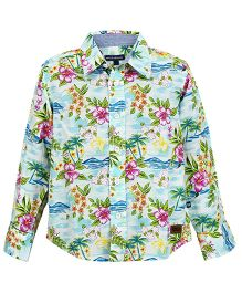 Bells and Whistles Full Sleeves Printed Shirt - Blue