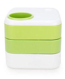 Gifts World Mug Pen Holder - White And Green