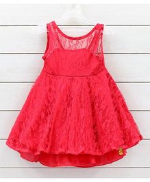 Little Muffet  Lace Party Dress - Red