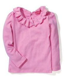Little Muffet Full Sleeves Top - Pink