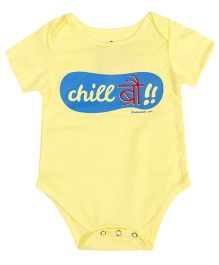 Blue Bus Store Chill Bro Onesie - Yellow