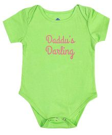 Blue Bus Store Daddu's Darling Print Onesie - Green