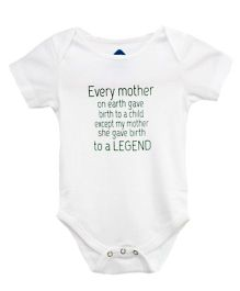 Blue Bus Store Every Mother Print Onesie - White