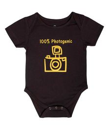Blue Bus Store Photogenic Print Onesie - Brown