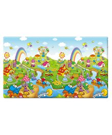 Dwinguler Playmat Dinoland and Alphabets Print Large - Multi Color