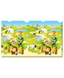 Dwinguler Playmat Zoo and Alphabets Print Medium - Multi Color