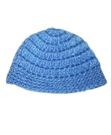 Kadambaby Crochet Woolen Cap - Blue