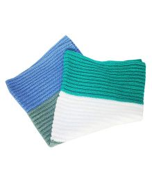 Kadambaby Stripes Crochet Woolen Baby Blanket - Multicolor