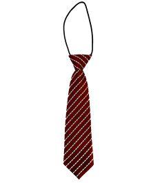 Kuddle Kids Cross Stripe Print Tie - Maroon