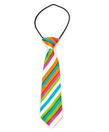 Kuddle Kids Cross Stripe Print Tie - Multicolour