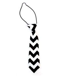 Kuddle Kids Zigzag Print Tie - Black & White