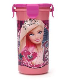 Barbie Tumbler With Clip on Lid - 400 ml