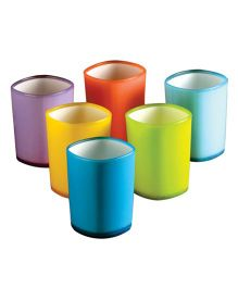 Wonderchef Set of 6 Glasses  - Multicolour
