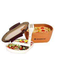 Wonderchef Trendy 900 ml Lunch Box - Brown