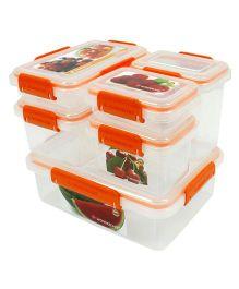 Wonderchef Lockit Pack of 6 Containers - Orange