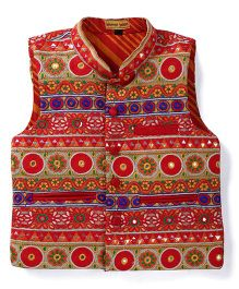Shruti Jalan Ethnic Jacket With Embroidery - Multicolour
