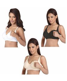Morph Maternity Feeding And Nursing B Cup Bra - Pack Of 3