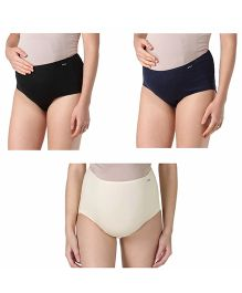 Morph Maternity Panty Pack of 3 - Black Blue White