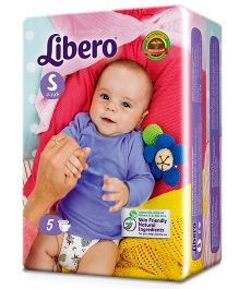 Libero Open Diapers Small - 5 Pieces