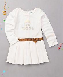 Babyhug High Fashion Full Sleeves Top - White