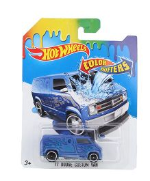Hot Wheels Color Shifter 77 Dodge Custom Van Toy - Blue