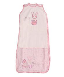 Lollipop Lane Rosie Posy Sleeping Bag Rabbit Embroidery - Pink