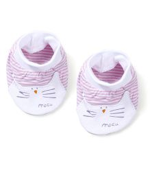 Simply Baby Booties Stripes Print - Pink