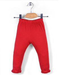 Simply Solid Colour Capri - Red