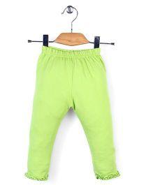 Simply Solid Colour Capri - Green