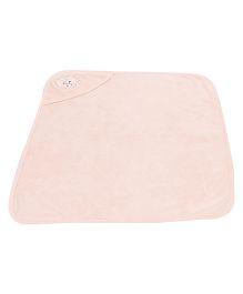 Simply Hooded Towel Teddy Embroidery - Peach