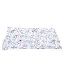 Mee Mee Blanket Bear Design - White And Grey