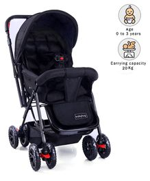 Babyhug Cocoon Stroller - Mid Night Black