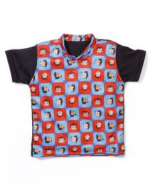 Chhota Bheem Printed Swim T-Shirt - Red Blue