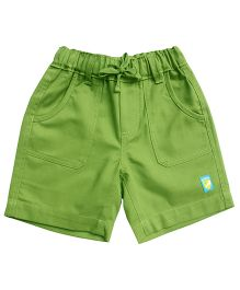 Campana Plain Shorts Logo Patch - Green