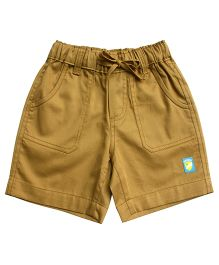 Campana Plain Shorts Logo Patch - Light Brown