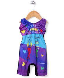 Rovars Legged Swimsuit Summer Print - Multicolour