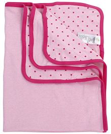 Fox Baby Blanket Minnie Print - Pink